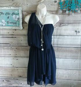 Greylin navy Grecian dress